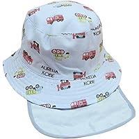 VIDOSCLA ベビー用ハット つば広 赤ちゃんキャップ キッズ 帽子 子供サンバイザー フィッシャーマンハット 車柄…