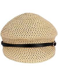 軽量 通気性 キャップ 女性の麦わら帽子 夏の屋外帽子 (色 : ベージュ)