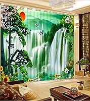 Sproud 3 次元のプリントカーテン美しいリアルな Hd 3 D のカーテン寝室の装飾が施されているリビングルームに Cortinas-240Cmx240Cm
