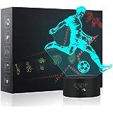 3D Night Light, LED Lamp for Kids, Soccer Toys for Boys, 7 Colors Touch Table Desk Lamps, Baby Bedroom Sleep Night Light, Bir