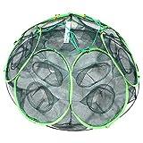 1stモール 釣り用 大漁捕穫 隠し球 十二手網 改 海 蟹 海老 道具 カニ エビ 魚 網 フィッシング ST-AMI003-12