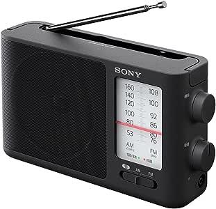 ソニー SONY ポータブルラジオ ICF-506 : FM/AM/ワイドFM対応 電池駆動可能(単3形3本) ブラック ICF-506 C