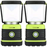 Consciot Ultra Bright LED Camping Lantern with 1000LM, D Battery Powered, 4 Light Modes, Dimmable Water-Resistant Lantern, Po