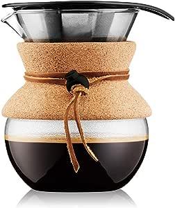 BODUM ボダム POUR OVER プアオーバー ステンレスメッシュフィルター ドリップ式 コーヒーメーカー 500ml コルクカバー付き 【正規品】 11592-109