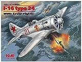 ICM 1/48 ソビエト空軍 ポリカルポフ I-16 タイプ24 プラモデル 48097