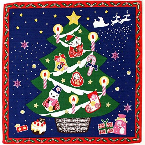 《DM便対応》 (キステ)Kisste 四季彩布 12ヶ月の季節柄小風呂敷 5-4-00081 【No.12】クリスマス