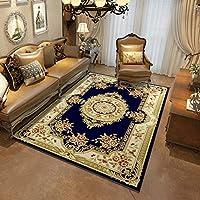 Carpet ヨーロッパスタイルのリビングルームカーペットコーヒーテーブルパッドアメリカンカーペットホームベッドルームベッドサイドブランケット長方形ショップマシン洗えるノンスリップマット A+ (色 : D, サイズ さいず : 180x280cm(71x110inch))