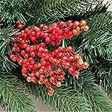 クリスマスツリーの形の装飾25*12cm枝用品ゴールドシルバー赤の光沢のあるフルーツの形のウェディングパーティーの装飾オーナメント-Gold,