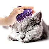 [Soft Silicone Pins] CELEMOON Ultra-Soft Silicone Washable Cat Grooming Shedding Massage/Bath Brush - Safe & No Scratching An