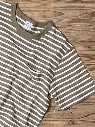 (コーエン) COEN tシャツ スラブボーダーポケットTシャツ 75256038023 6730 OLIVE(67) SMALL