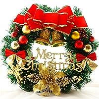 Fastar クリスマス リース 玄関 ドア ゴージャス かわいい アクセサリー プレゼント ギフト 贈り物 多種類 選択可能 直径約30CM