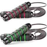 ZODAE Jump Rope Tangle-Free Ball Bearings Speed Skipping Rope Cable, Jumping Ropes with Memory Foam Ideal for Crossfit Traini