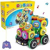 ベビーキッズDIY音楽車おもちゃ、想像力Building Bricksブロックリモート制御車建物インテリジェントおもちゃBrithdayギフト