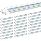 JESLED T8 4FT LED Light Tubes, 24W 5000K Daylight, 3000LM, 4 Foot T12 LED Bulbs Replacement for Fluorescent Fixtures, Ballast