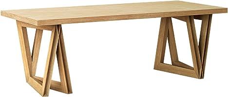KAMARQ ダイニングテーブル SOUND TABLE -音を奏でるテーブル Modern Delta ナチュラルブラウン XL