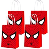 16 PCS Party Bags for Spider Hero Gift Bags Kids Boys Superhero Themed Birthday Party Decorations Gift Goody Treat Candy Bags