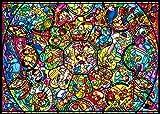 266ピース ジグソーパズル ディズニー キャラクター オールスターステンドグラス ぎゅっとシリーズ 【ピュアホワイト】 (18.2x25.7cm)