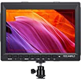 FEELWORLD FW759 DSLR Camera Field Monitor HD Video Assist 7 inch Slim IPS 1280x800 HDMI 1080p with Sunshade for BMPCC Canon S