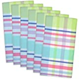 DII 100% Cotton, Oversized Basic Everyday 20x20 Napkin Set of 6, Spring Plaid