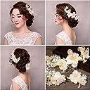 ABELSON髪飾り 花 実用な3点セット 着物にもウェディングドレスにもぴったり結婚式/成人式髪飾り 和装にも 結婚式 ティアラ ヘッドアクセサリー フラワーヘッド 花冠