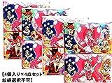 キラキラ★プリキュアアラモード キャラクター 水に流せる 柄入り ミニポケットティッシュ (4個入りパック) 【4点セット】