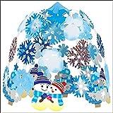 ウインター装飾 雪だるまスノー2段センター W60cm / 冬 雪 ディスプレイ 飾り  8172