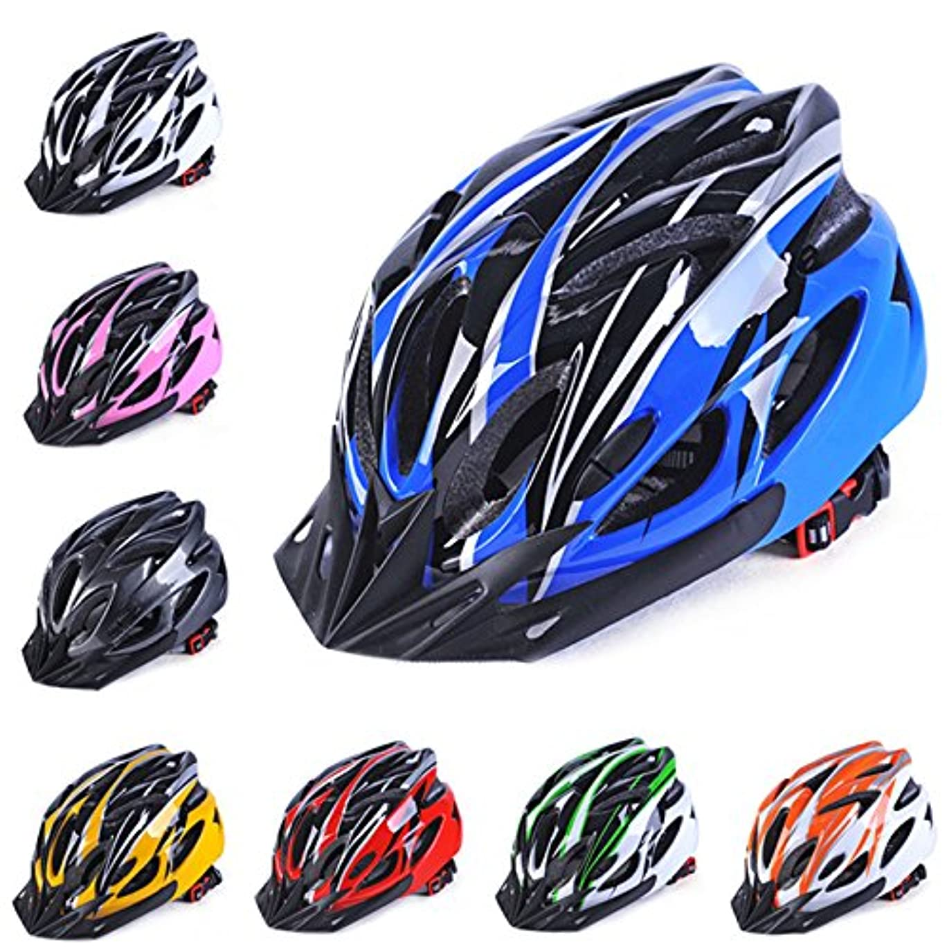 シードカップ威信RaiFu ヘルメット 超軽量 自転車 一体成形 調整可能 通気性 大人用 サイクリング ヘルメット ブルー?ブラック