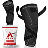 Knee Brace Compression Sleeve with Strap for Best Support & Pain Relief for Meniscus Tear, Arthritis, Running, Basketball, MC