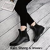 Orienters (オリエンターズ) レインブーツ レインシューズ サイドゴア レディース 防水スニーカー 雨の日でもおしゃれに 通勤通学に ブラック 23.5cm