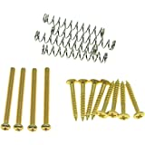 KAISH Imperial/USA Thread Humbucker Pickup Height Screws Humbucker Pickup Ring Pickup Surround Frame Mounting Screws Springs