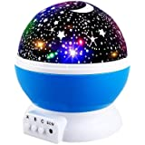 Star Night Lights for Kids, Star Light Lamp Rotating Projector 360 Degree Romantic Rotating Cosmos Star Projector for Kids To