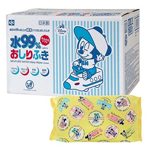 ディズニー ミッキー & ミニー おしりふき 80枚×20個 レック