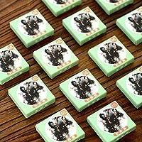 6枚/袋和紙付箋紙ステッカー日本食パターン装飾スクラップブッキングDIYオフィス文具学用品 SR5