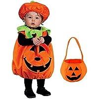 Nemory(ネモリ) ハロウィン コスプレ かぼちゃバッグ付き パンプキン キッズコスチューム ソフト・コンフィ・パン…