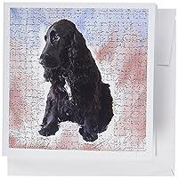 Dogs Cocker Spaniel–ブラックCocker Spaniel–グリーティングカード Set of 6 Greeting Cards