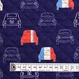 夢色ドライブはフレンチカラー キルティング生地 ハンドメイド 手作り用生地 入園入学 入園準備 入学準備 T0165400