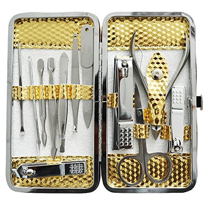 社会廃棄タッチ爪切りセット 耳掃除機 12枚はさみ、キューティクルをトリマー、耳かき、ナイフ