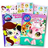 Littlest Pet Shop Coloring and Activity Book and Over 50?Littlestペットショップステッカー