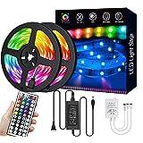 LED Strip Lights 32.8FT/10M 300 LEDs SMD5050 RGB Strip Lights Waterproof Rope Lights Color Changing Tape Light Kit with 44 Ke