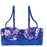 Undies.com Women's Micro and Lace Multi-Way Convertible Long Line Bra