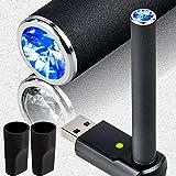 ZEN プルームテック 互換 バッテリー キッド 50パフ お知らせ機能付き《バッテリー、USB充電器、マウスピース》 PloomTechカートリッジ対応 代替品(純正品と同じ質感&吸い心地)急速充電 安心の保証書付き(マットブラック) (50パフお知らせ機能, マット・クリスタルブルー)