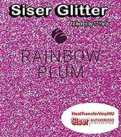 Siser Glitter Iron On Heat Transfer Vinyl 12 Inches (Rainbow Plum, 10 Yards)