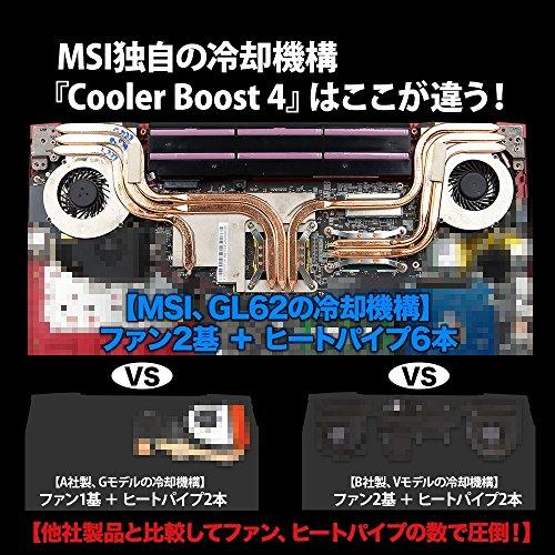 MSI ゲーミングPC ノートパソコン GL62M 7REX 15.6インチ GTX 1050Ti  4GB /SSD 128GB搭載モデル  GL62M-7REX-1857JP