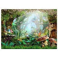 Iycorish 7 x 5フィート 洗濯可能な布 写真の背景 妖精 夢のような 自然の森林の生活の背景 撮影スタジオのバックグラウンド 子供のための写真の背景