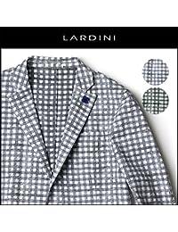 LARDINI(ラルディーニ) シャツジャケット シアサッカー ギンガム チェック イタリア製 [並行輸入品]