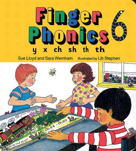 Finger Phonics Book 6: Y, X, Ch, Sh, Th/Board Book (Jolly Phonics: Finger Phonics)