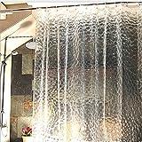 シャワーカーテン バスカーテン 浴室 防水 防カビ カーテンリング付属 3D EVA お風呂カーテン (180*180)