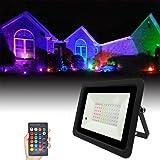 Led Floodlight RGB Spotlight 20W Outdoor Reflector Projector Lamp 110V/220V Flood Light with Remote Control