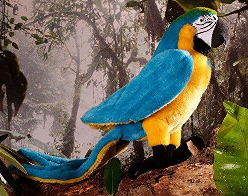 ルリコンゴウインコ KOSEN(ケーセン社) 34cm Blue-and-yellow macaw/鳥/ぬいぐるみ