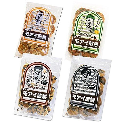モアイ煎餅 モアイの岩肌 4種セット 蜂蜜ふらい そら豆 かぼちゃの種 ごませんべい 黒豆せんべい 和菓子 お菓子